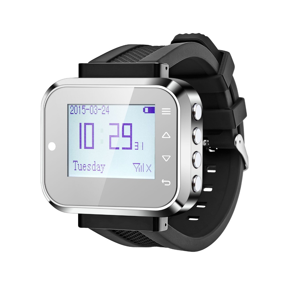 Hospital Restaurant Wireless Fashion Design Watch Wrist Pagers for Calling System