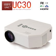 New hot UC30 advancest level of UC28+ 1080p mobile power supply home theater 3d p support projector,home projector review