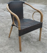 Hot sale outdoor furniture wicker bamboo look chair
