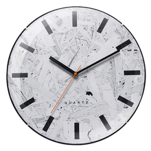 wooden style design frameless <strong>glass</strong> arched wall clock for home decor