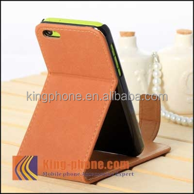alibaba big sale brand new product antique style stand wallet flip leather case for iphone 5C