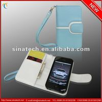 leather Wallet for iphone 5/for iphone case wrist strap