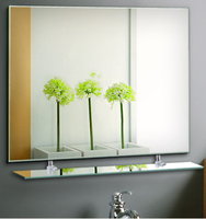 Glass Material and bathroom, decorative, etc,wall Usage double side sliver mirror