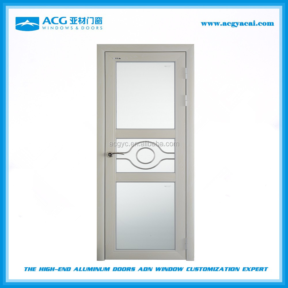 Popular cheap painted glass interior <strong>aluminum</strong> swing door