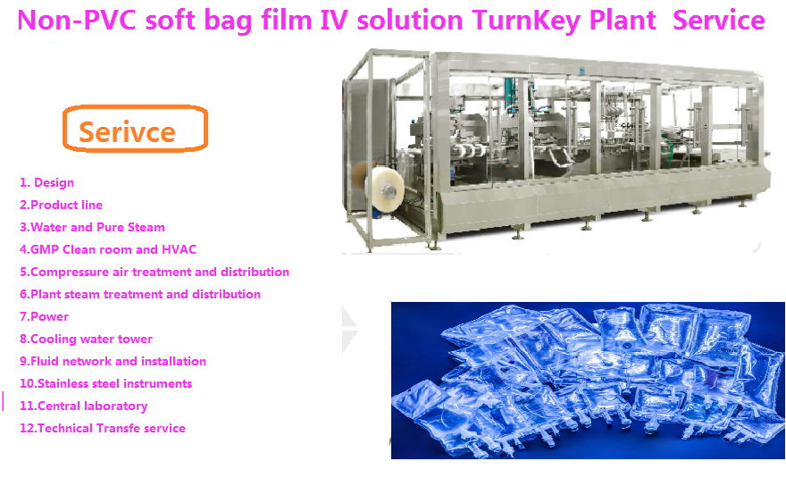 NON-PVC FILM SOFT BAG IV SOLUTION EPC TURNKEY PROJECT