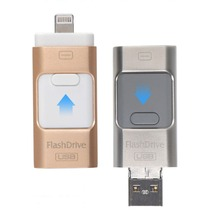 2017 new arrival top selling high quality 3 in 1 fashion otg usb flash drive for iphone