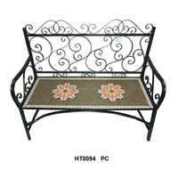 Mosaic patio bench outdoor garden furnitue