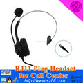 GOOD quality noise cancelling telephone headset call center headsets 3.5mm with long lines 3.5mm wired headphones