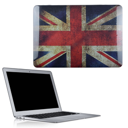 C&T England Flag Rubberized Ultra Slim Light Weight Hard Crystal Shell Case Cover for Macbook Air 11.6""