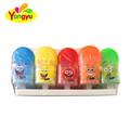 Lovely ice cream shape bottle colorful sweet fruity flavor round ball hard candy