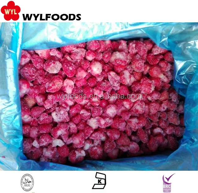 HACCP HALAL KOSHER Frozen IQF strawberry for bulk