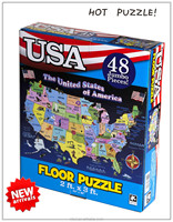 OEM Floor jigsaw puzzle and educational toy game magnetic puzzle for kids