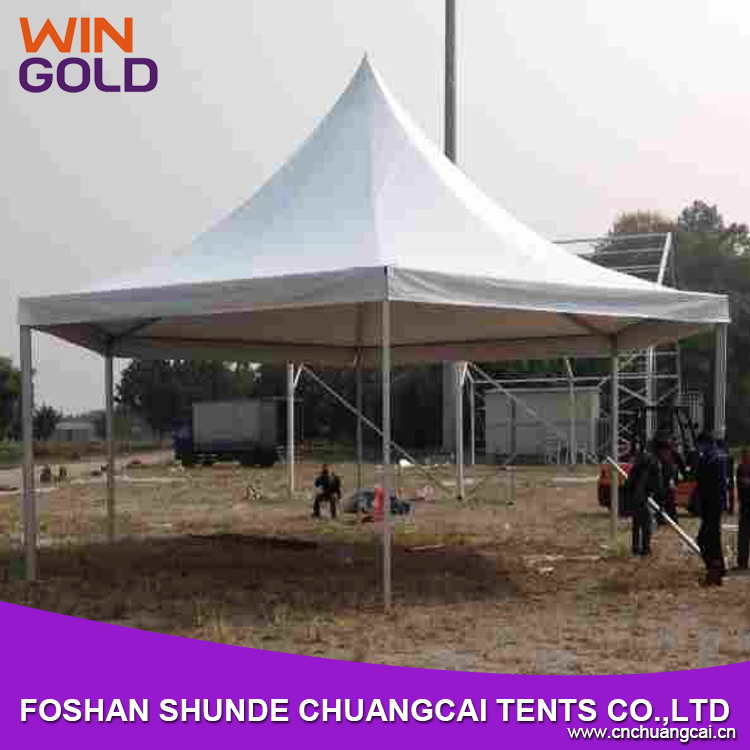 Customized luxury aluminum frame high quality hexagon tent pinnacle tent octagonal for sale