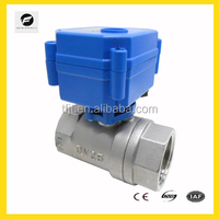 CWX-15Q plastic gear-box low noise motorized stainless steel solenoid ball valve for auto-control watersystem