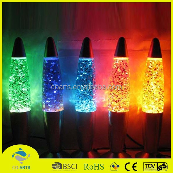 Hot selling portable colorful rocket lava lamp
