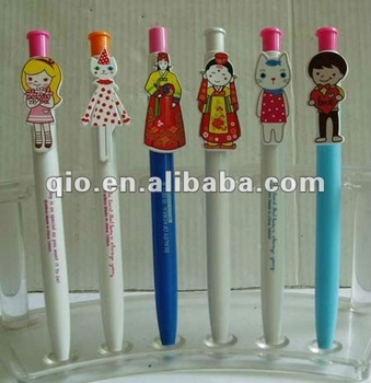 cheap plastic promotional pen with logo advertising pen free sample