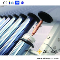 High efficient glass pipe vacuum tube copper pipe pressure solar water tubes