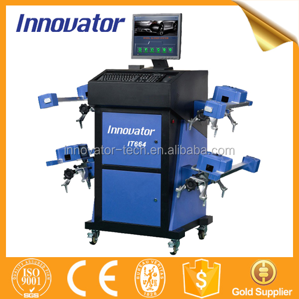 Intelligent automatic used wheel alignment machine for sale for 4 wheel alignment IT664