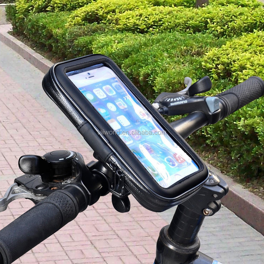 Top sales bike handbar cell phone mount with waterproof case