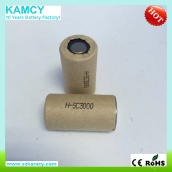 10C High discharge rate high temperature 1.2v rechargeable battery Nimh SC 3000mAh for makita power tools