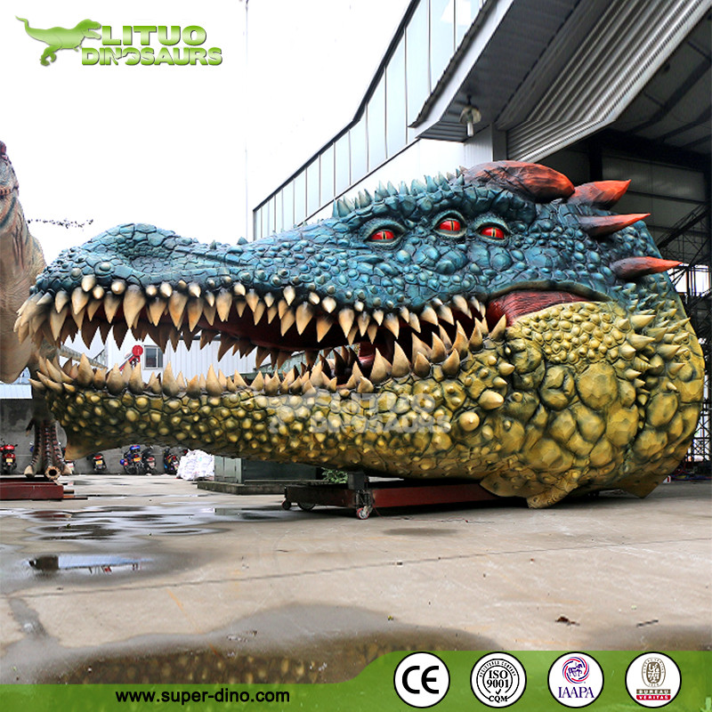 Large Scale Stage Show Big Exhibition Animatronic Crocodile