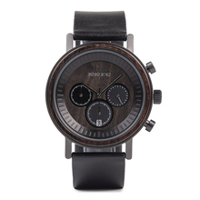 New product Chronograph Men Stainless Steel Wood Watch for Women watches in Wood Gift Box