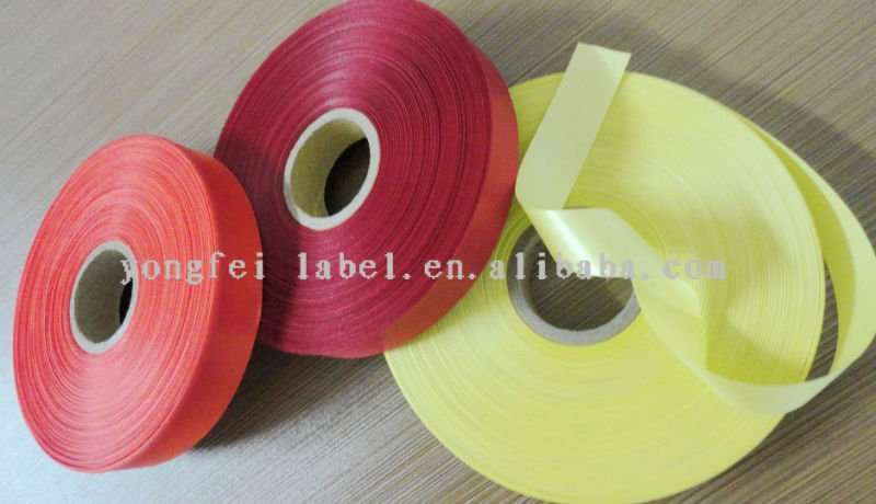 Elastic wide washable polyester ribbon