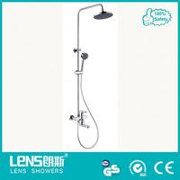 Solid brass glass wall mounted shower head for bathroom