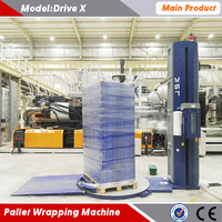 Hot sell newest fully automatic pallet wrapping machine with 300% pre-stretch SIEMENS control system remote control function CE