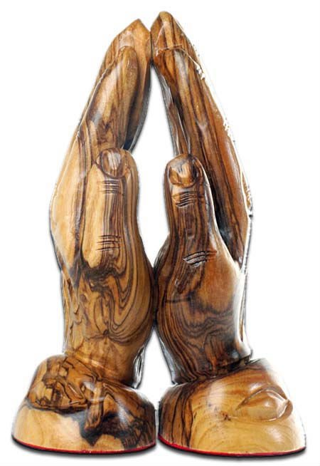 olive wood praying hands