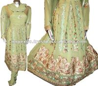Churidar Bridal / Wedding wear Dress ( Kali Frock with Churidar Pajama )