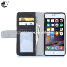 2016 Hot Selling PU+TPU Leather Flip Case For Smart Phone For iPhone 6 Plus 5.5