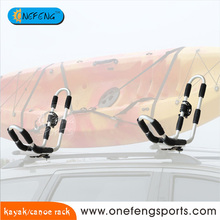Car Roof Kayak canoe Carrier with integrated Paddle Holder