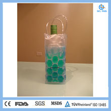 Portable PVC wine cooler bag with handle
