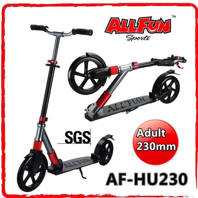 230mm large Wheel Adult Skate Scooters with double suspension