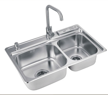 Double Bowl Stainless Steel Kitchen Sink Wash Basin