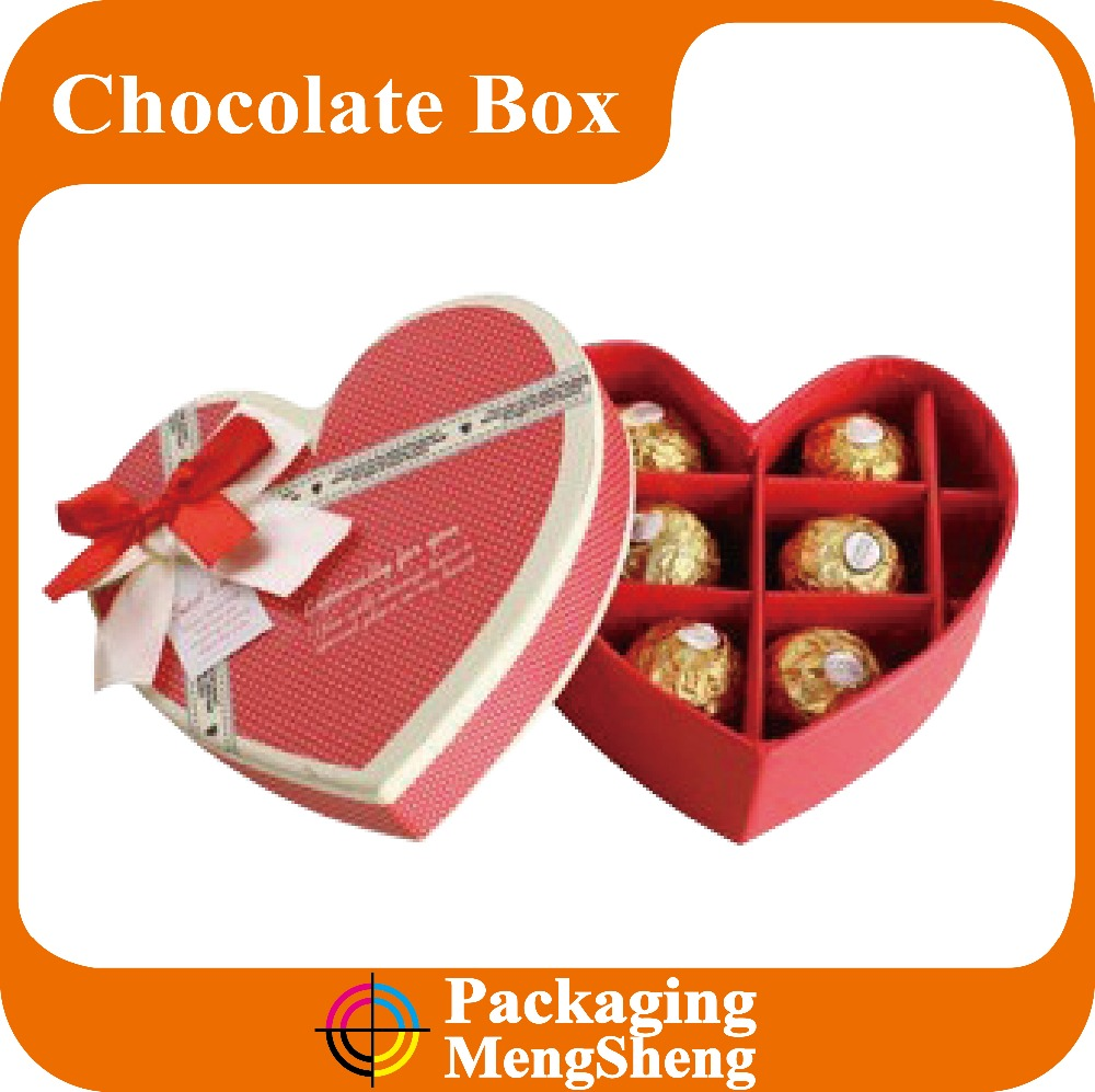 custom bow tie box, heart shape box with ribbon tie, bow tie gift packaging paper box