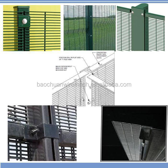 High quality 76.2mm*12.7mm hot dip galvanized 358 Security Fence, 358 fence, 358 high security fence