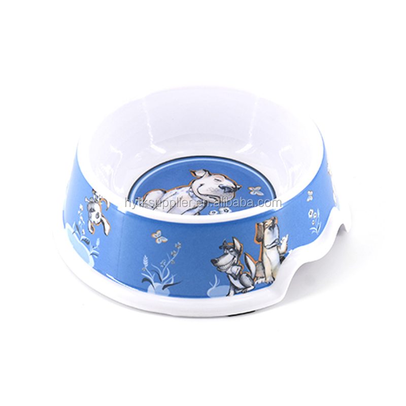 Pet Cat Puppy Exquisite Food Feeding Transparent /Water Dish Anti Choking Bowl/Hot sale Plastic Feeder
