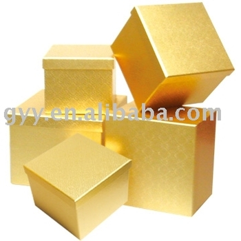Gold gift box for luxury package