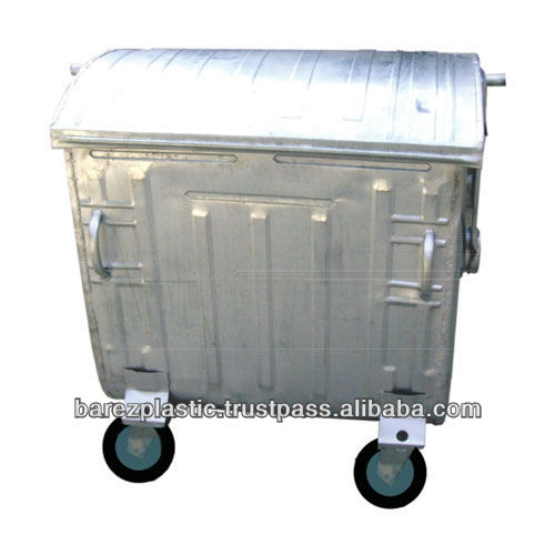 1100l Metal Waste Container (galvanized)