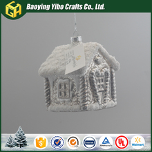 European hanging glass house ornaments for christmas decoration