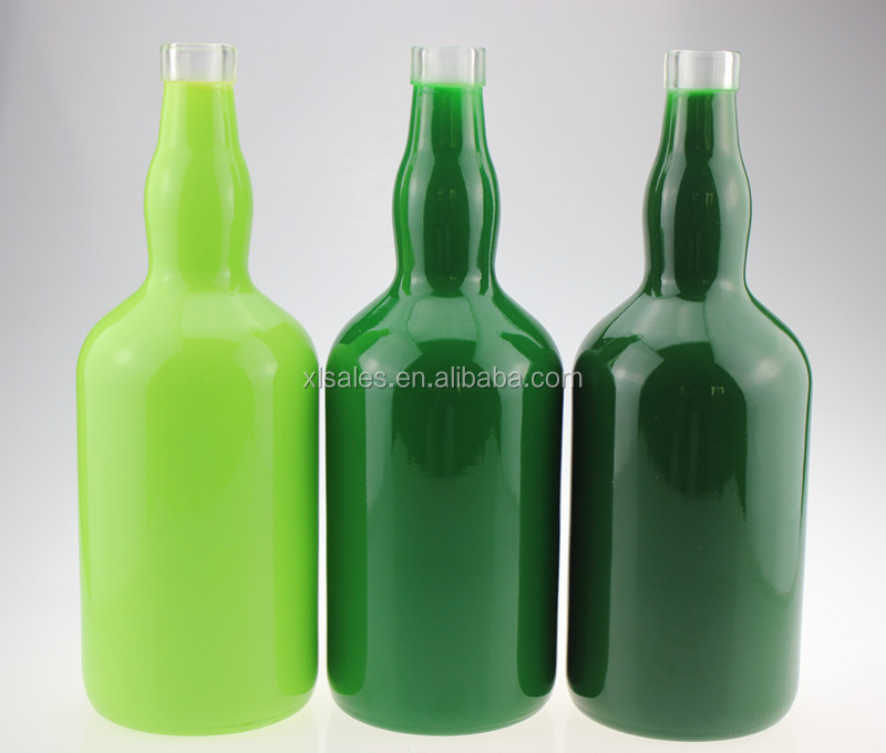 750 ML GREEN GLASS BOTTLE DRINKS 750ML COLORED