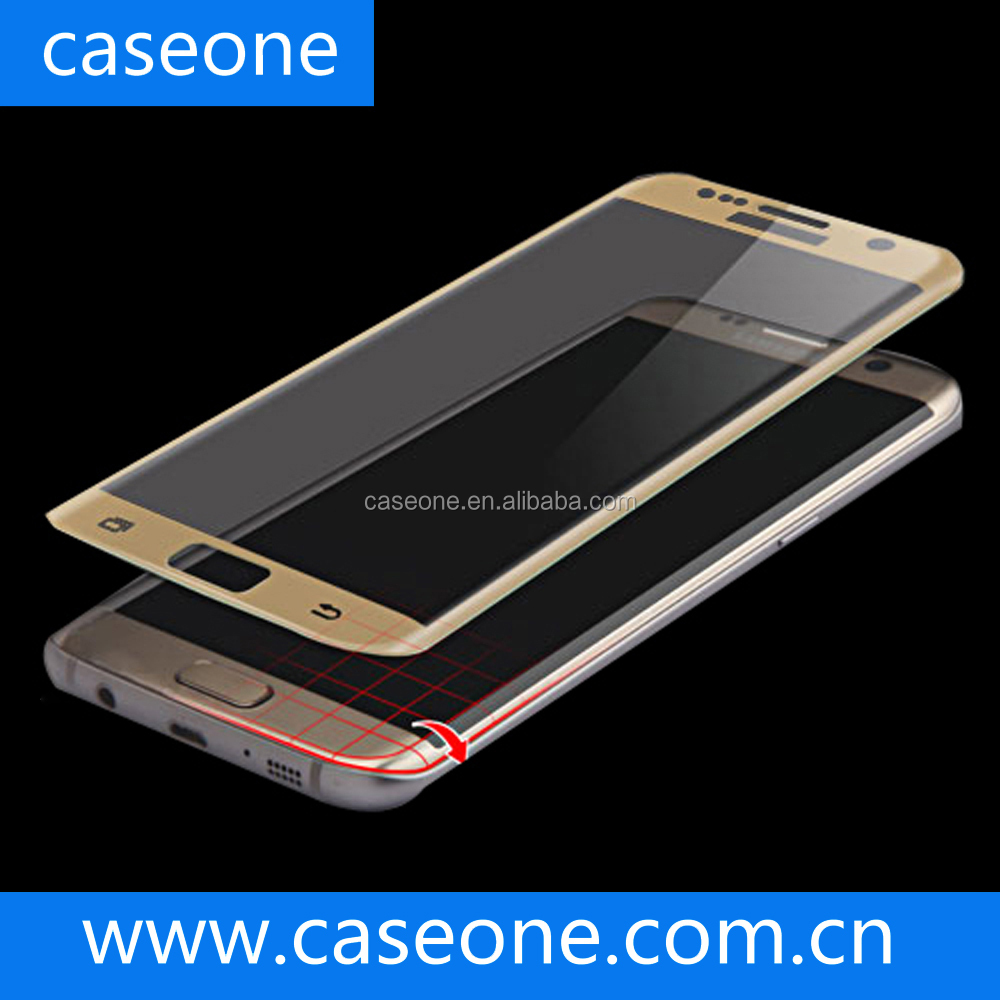 2016 New ! 3D Clear Anti Explosion tempered glass screen protector for Samsung Galaxy S7 edge