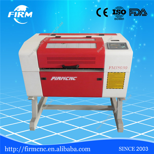 Jinan desktop hobby Manufacturer preferential supply Mdf laser engraving machine price FMJ5030