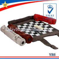 leather roll up chess board set chess game set with chess