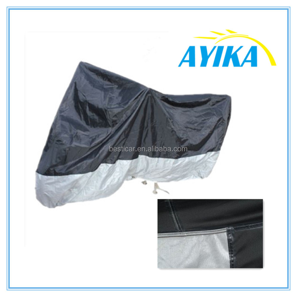 Strong polyester waterproof fiberglass motorcycle cover