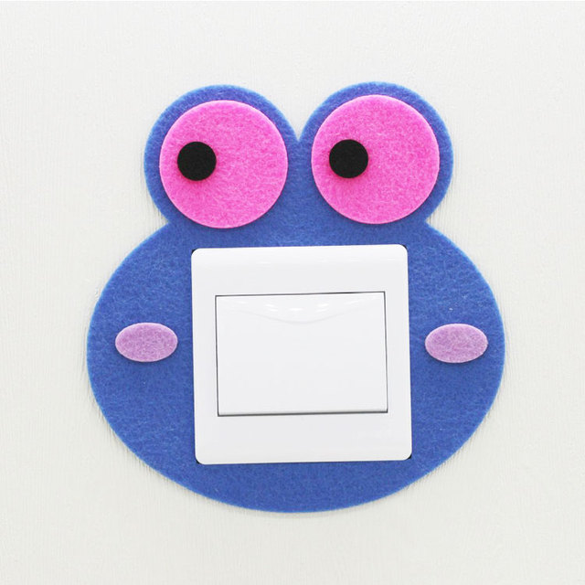 China supplier new arrival handmade felt switch sticker for home decoration