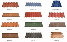 China 2016 terracotta color stone coated aluminium steel roof tile