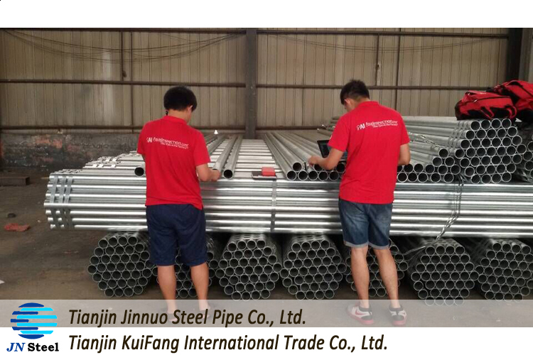 bs1387 pre galvanized steel pipe with 4.3 mm thickness
